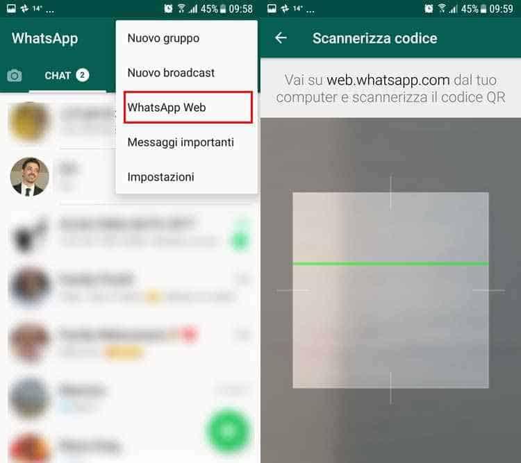 installare whatsapp senza sim whatsapp web