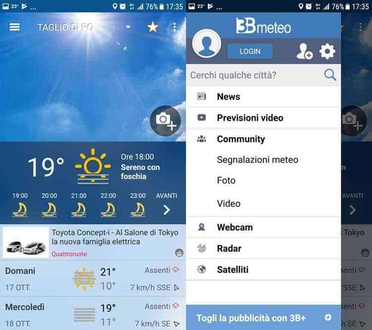 migliori app meteo 3b meteo