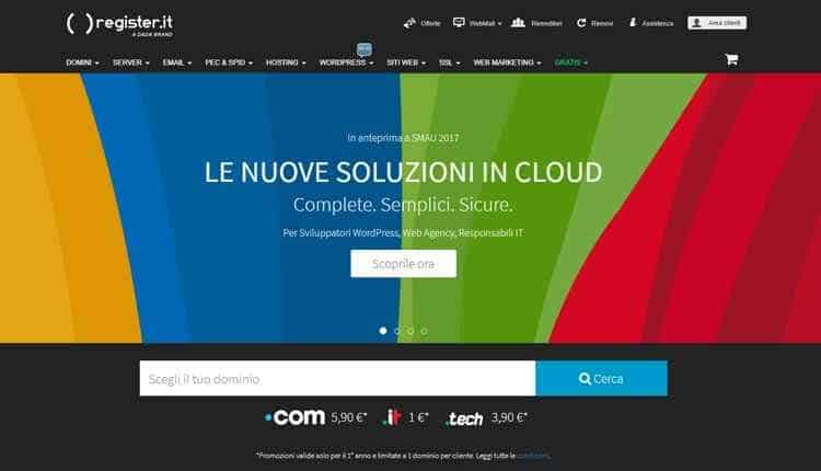 Register.it hosting web italiano