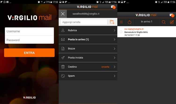 virgilio mail mobile