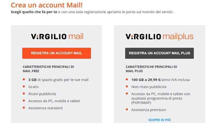virgilio mail plus
