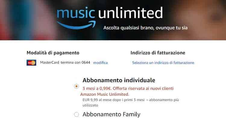 amazon music unlimited abbonamento 30 giorni gratis
