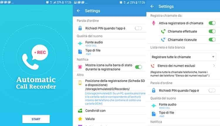 automatica call recorder gratis android