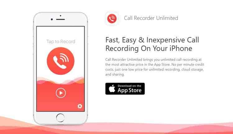 call recorder unlimited iphone