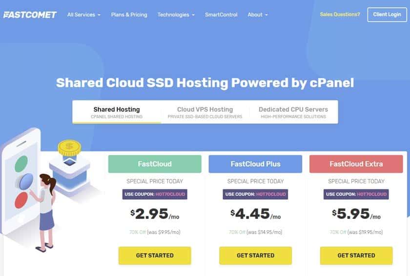fastcomet piani hosting