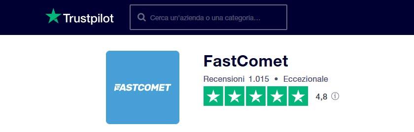 fastcomet recensioni trustpilot