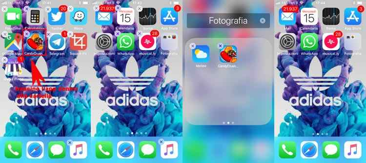nascondere app iphone cartelle nasconste