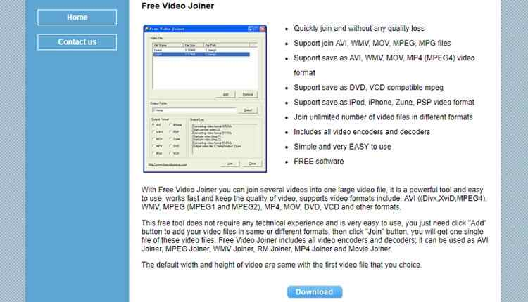 programmi-video-editing-free video joiner