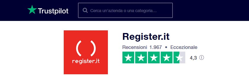 register.it recensioni trustpilot