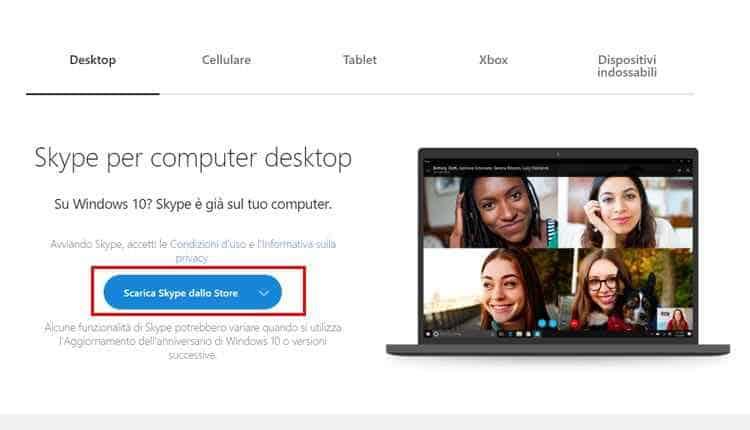 scaricare skype per pc