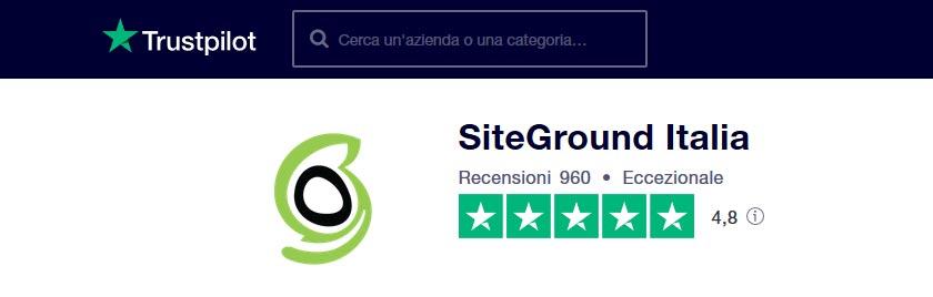 siteground italia recensioni trustpilot
