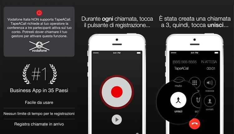 tapeacall registrare chiamate con iphone