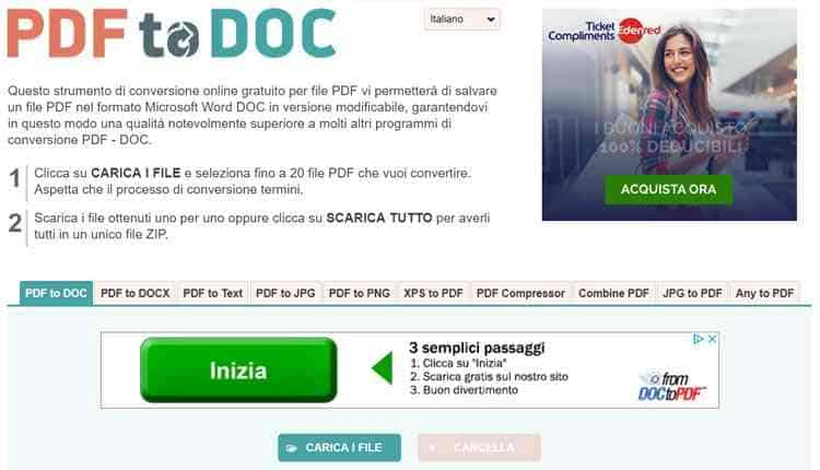convertire pdf in word online pdf to doc