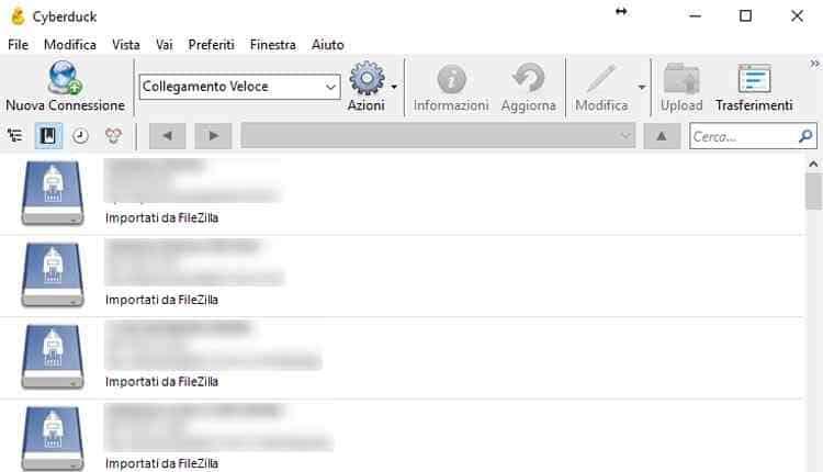CyberDuck client FTP