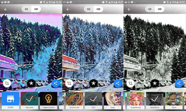 Prisma app modificazione foto android