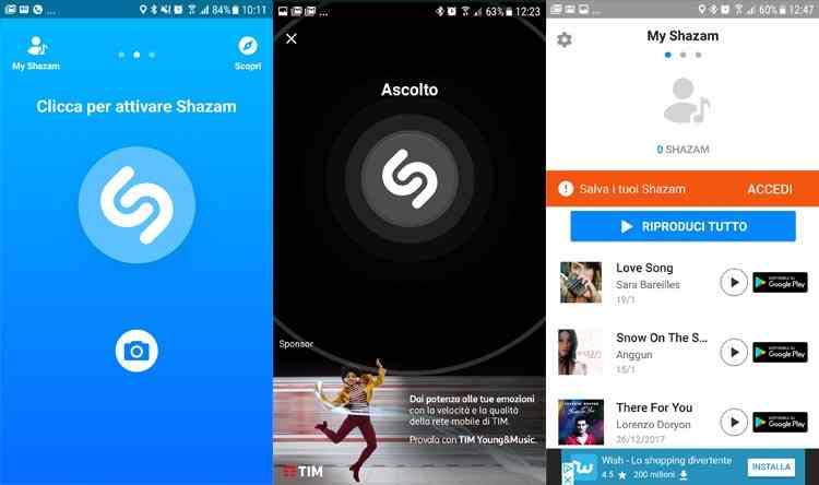 shazam app riconoscimento canzoni