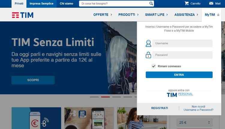 disattivare servizi tim a pagamento tramite internet