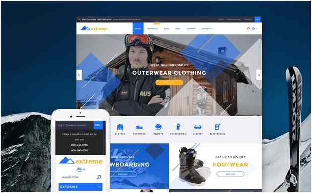template Shopify premium Extreme