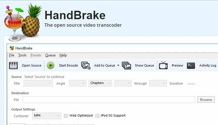 come convertire vob in mp4 con handbrake