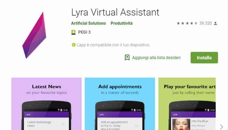 app alternative a google now lyra assistant