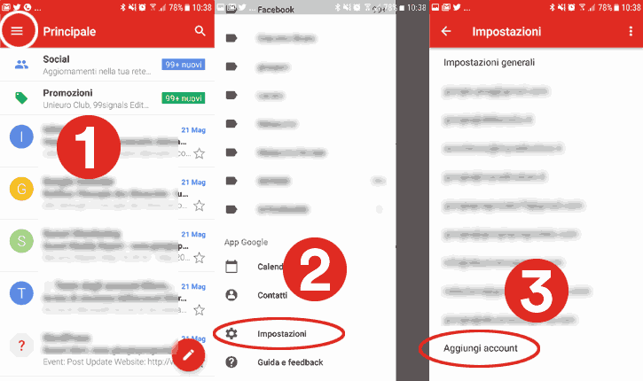 configurare nuovo account gmail