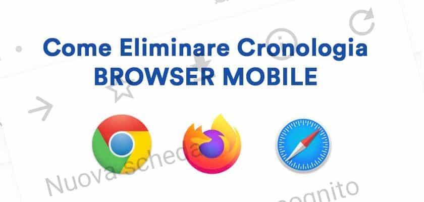 come cancellare cronologia browser
