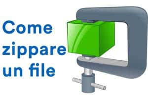 come zippare un file