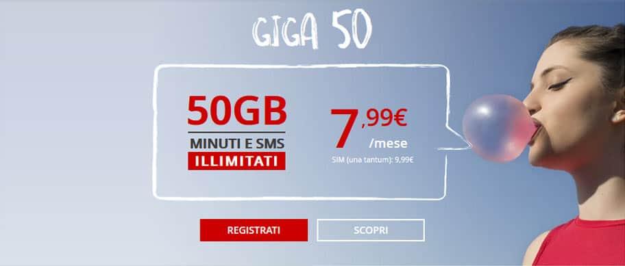 iliad offerta mobile giga 50