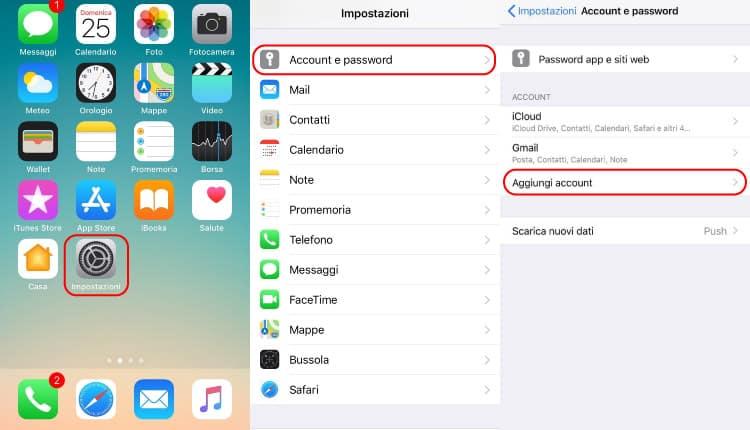 Come Configurare Nuovo Account Gmail Su iPhone - Aggiungi Account