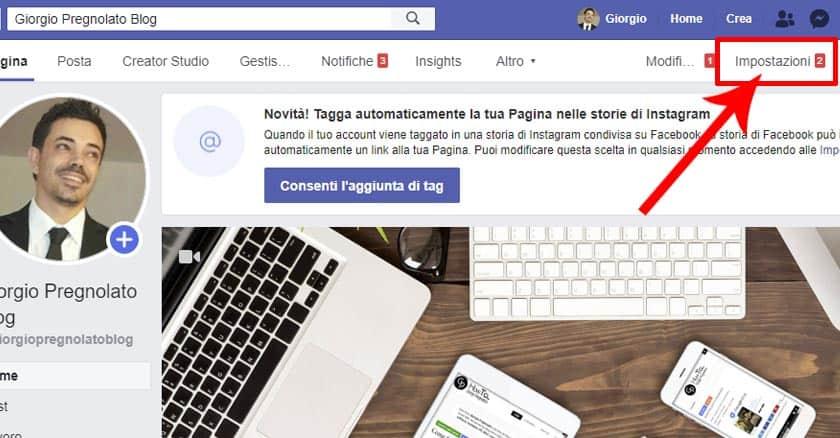 Come eliminare una pagina su Facebook Impostazioni
