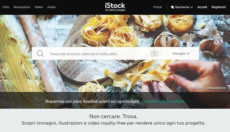 Migliori siti per acquisto foto online istock