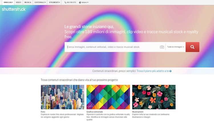 Migliori siti per acquisto foto online Shutterstock