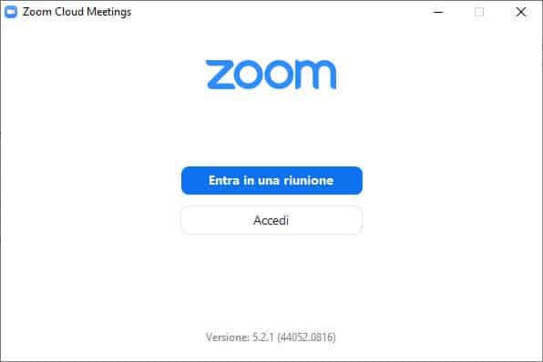 zoom accesso windows