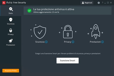 Avira antivirus gratis 2020 interfaccia