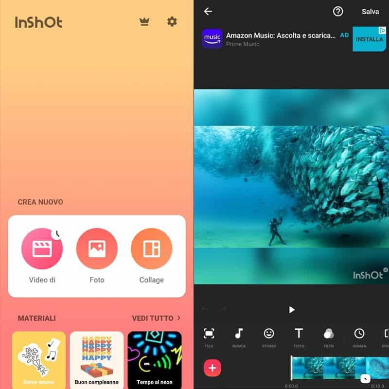 app per creare video inshot