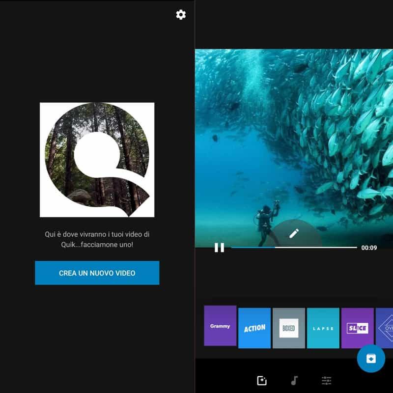 app per creare video quik