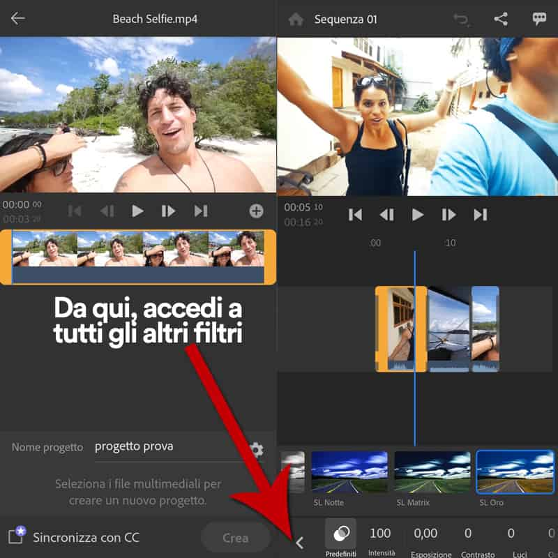 creare video con adobe premiere rush
