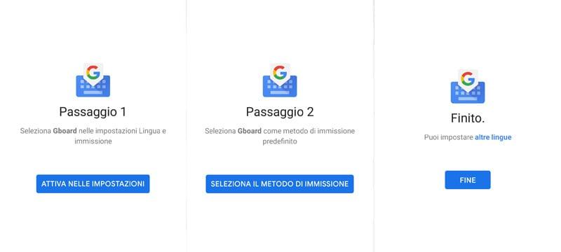gboard tastiera google