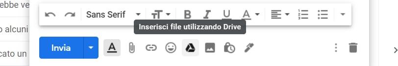 Gmail inserisci file utilizzando google drive