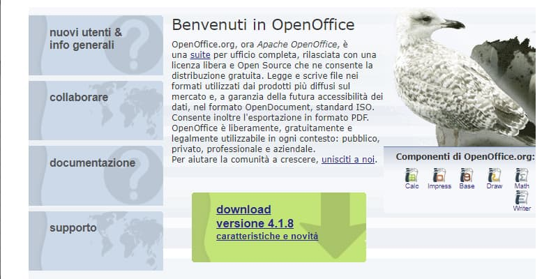 apache openoffice download per file odt