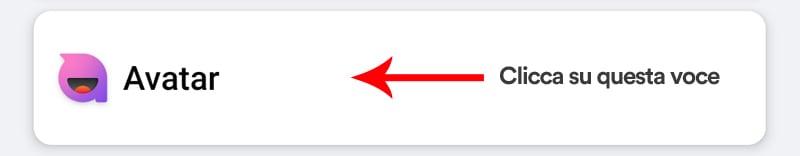 app facebook menu crea avatar