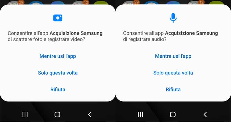 consenso registrazione audio e video