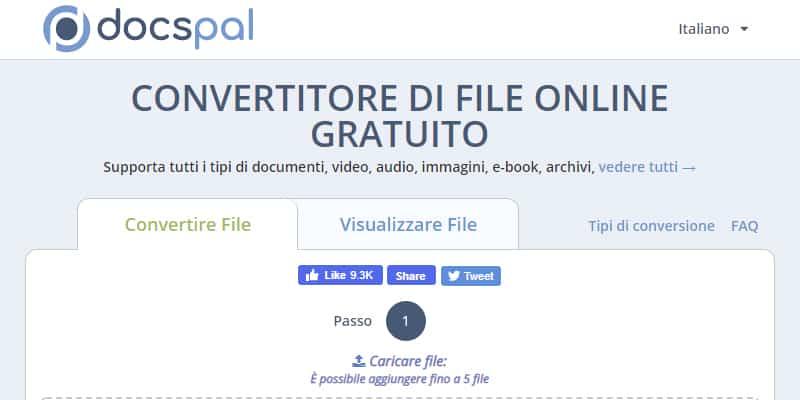 docspal convertitore di file online