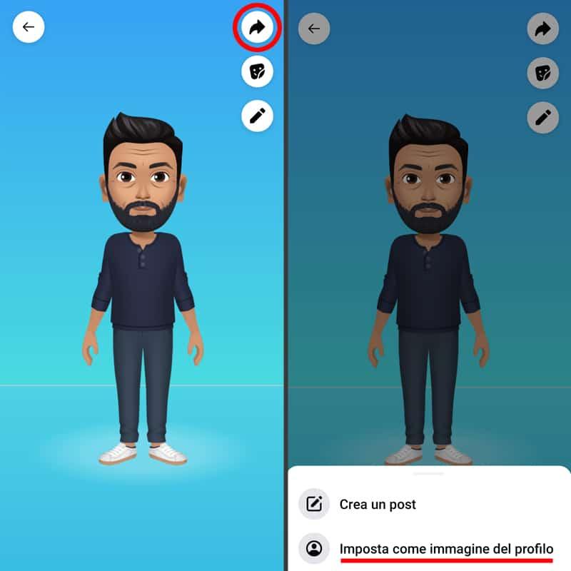 imposta avatar facebook come immagine del profilo